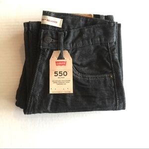 Levi's 550 relaxed fit black boys jeans